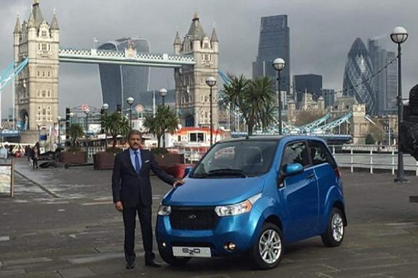 马恒达在英国推出通勤用电动车e2o