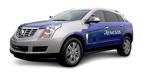 Renesas联合其他供应商共同打造的无人驾驶实验车