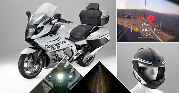 宝马摩托车激光大灯及头盔内平视显示器