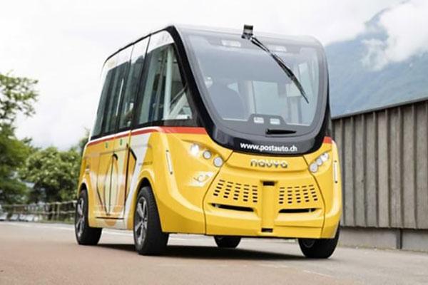 瑞士无人驾驶巴士已经开始上路进行测试