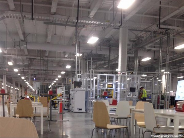 特斯拉超级电池工厂内部生产区曝光