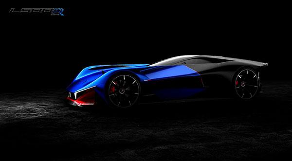 标致最新混动概念超跑L500 R Hybrid