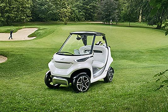 """奔驰设计了一款非常""""奔驰""""的高尔夫球车"""