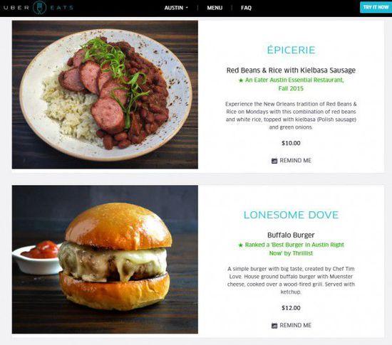 Uber在美将上线送餐应用UberEats