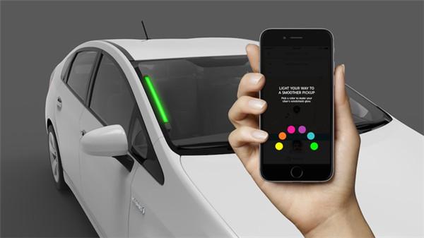 Uber在西雅图测新车辆辨识系统,用户可根据挡风玻璃LED颜色确认车辆